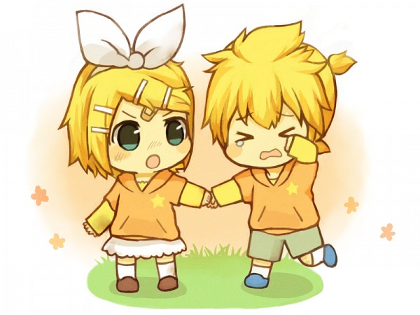 Rin and Len Wallpaper Chibi - WallpaperSafari