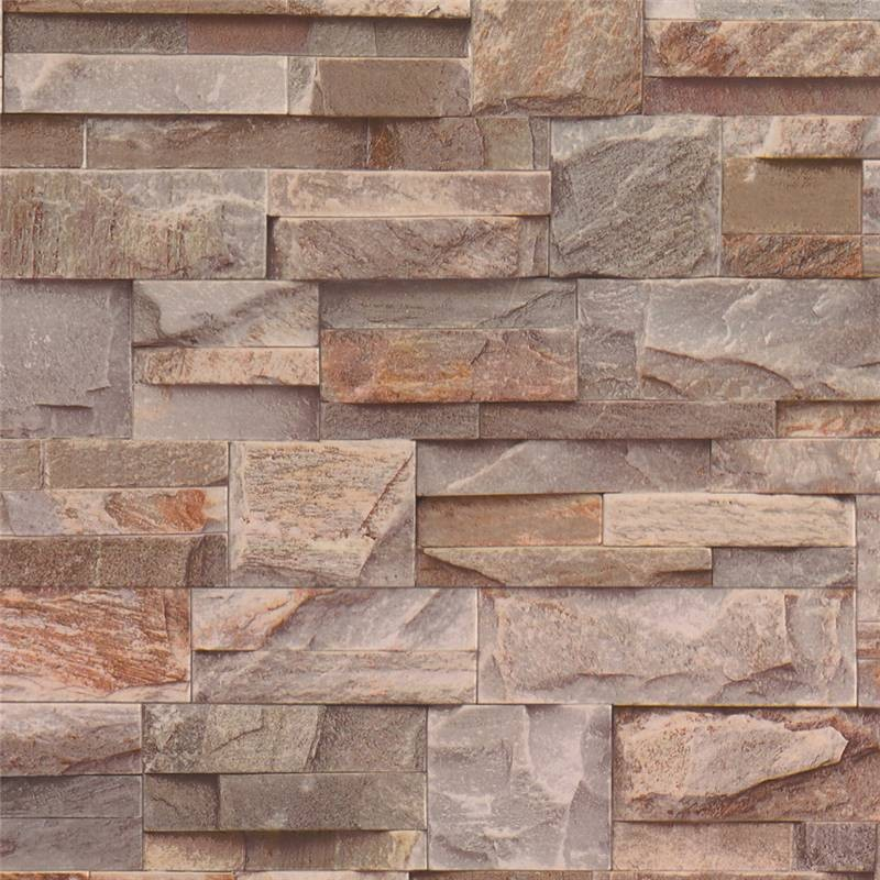Brown Grey   J27408   Natural Brick Stone Effect   Muriva Wallpaper 800x800