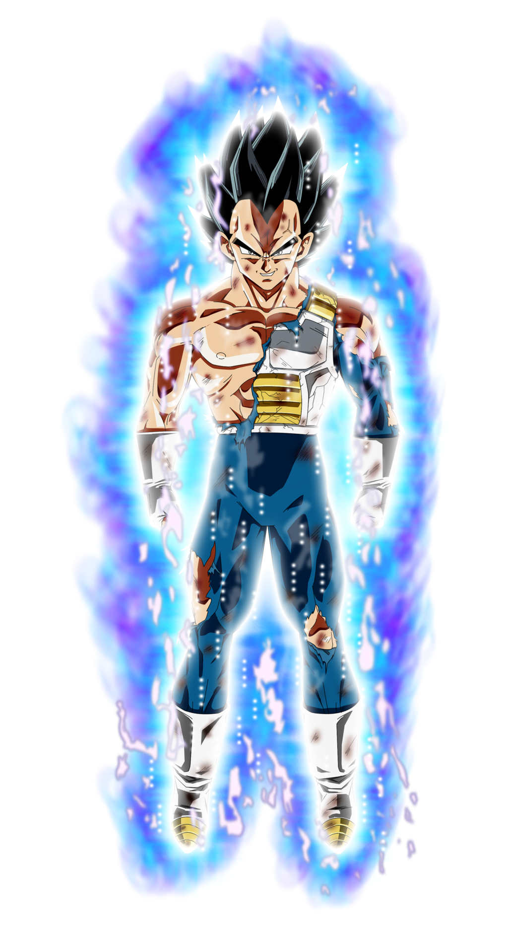 Vegeta Ultra Instinct Aura by BenJ san 1024x1879