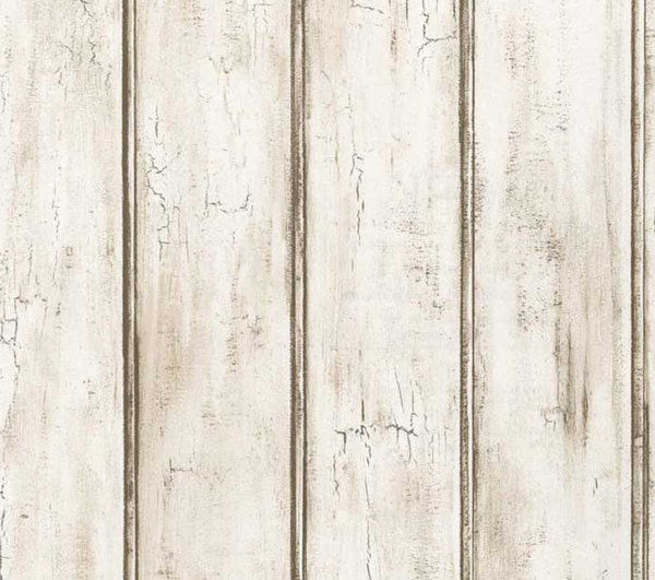Wallpaper by The Yard Distressed White Beadboard Woodgrain Aged Rustic 600x531