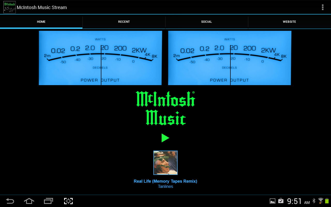 Amazoncom McIntosh Music Stream Tablet Appstore for Android 1280x800