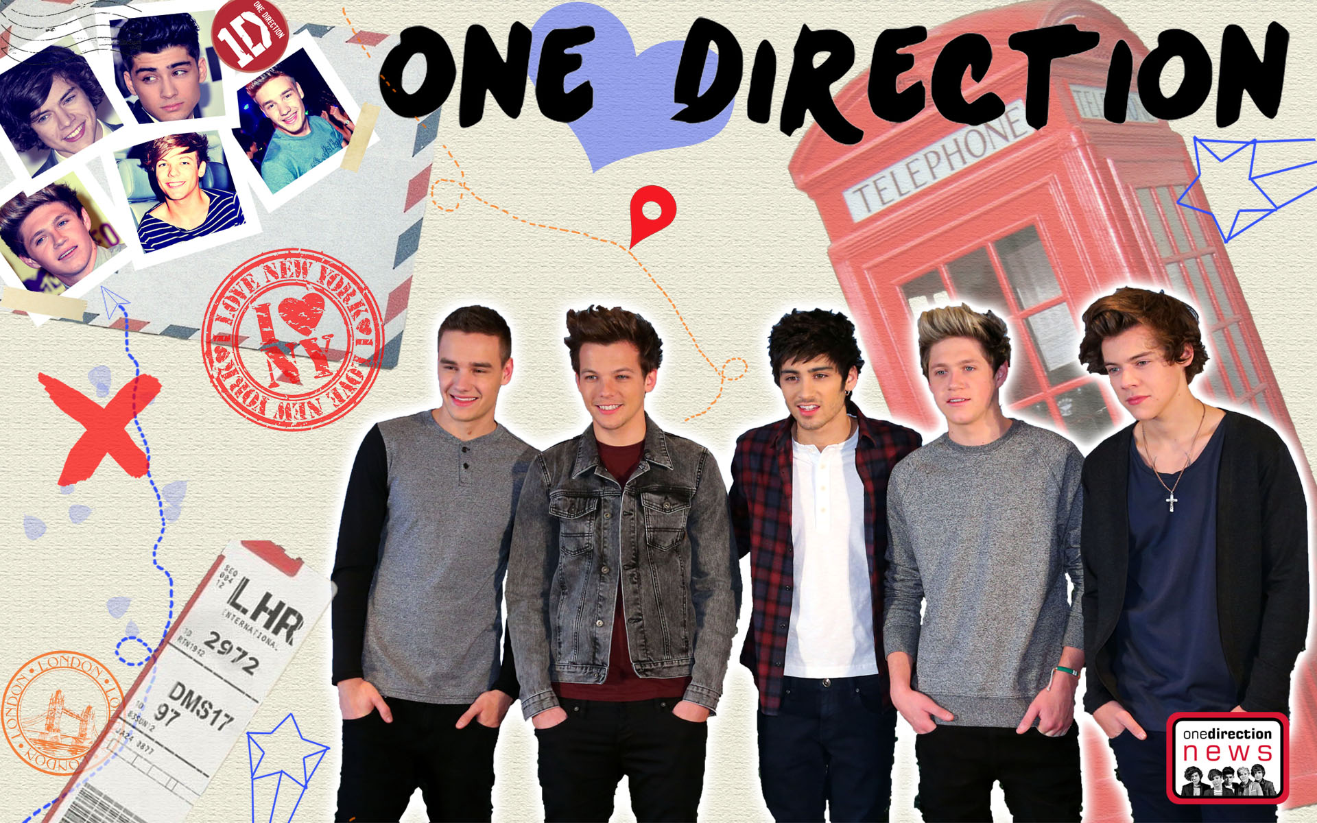 One Direction Wallpapers HD 1920x1200
