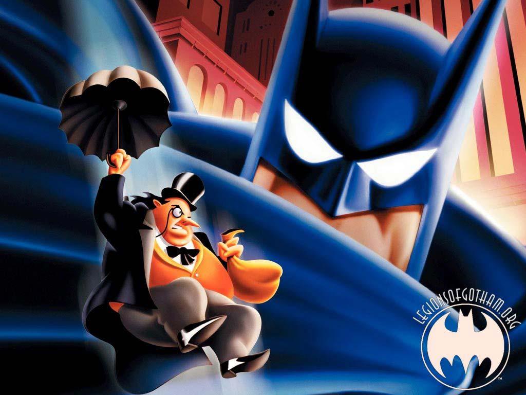 Batman and the Penguin Wallpaper   Batman Wallpaper   Cartoon 1024x768