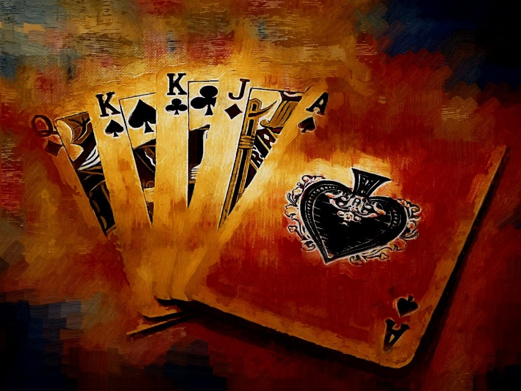 1024x768 Painted cards desktop PC and Mac wallpaper 1024x768