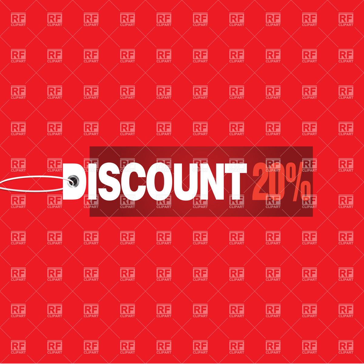 Discount 20   red background Vector Image of Backgrounds 1200x1200