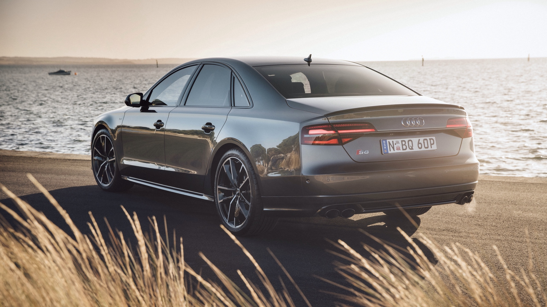 Audi S8 Rear View Wallpaper   Wallpaper Stream 1920x1080