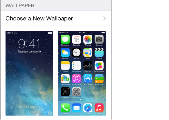 Change the wallpaper Go to Settings Wallpapers Brightness 582x414