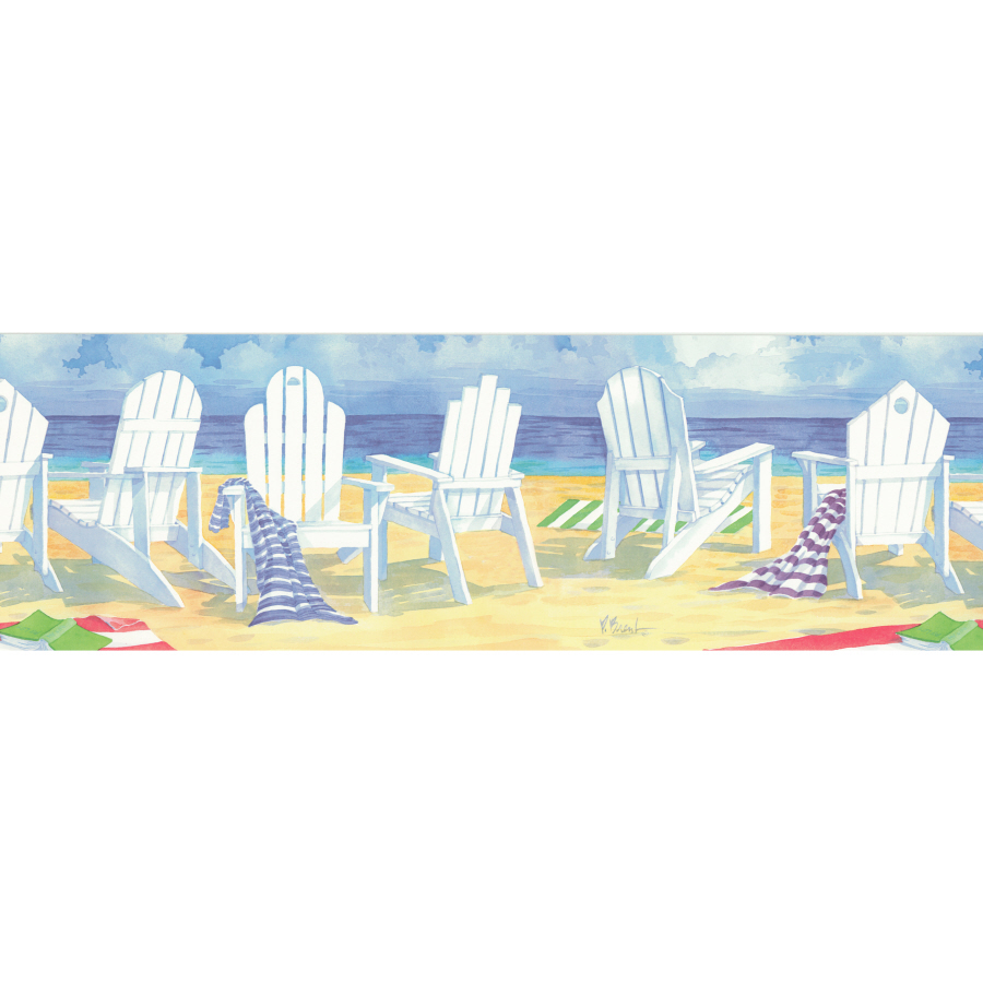 OCEAN FISH WAVES Beach wallpaper border borders wall in Home Garden 900x900