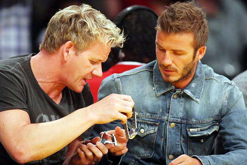 Gordon Ramsay And David Beckham Rolex Gtg 1 800536 Wallpaper 800x536