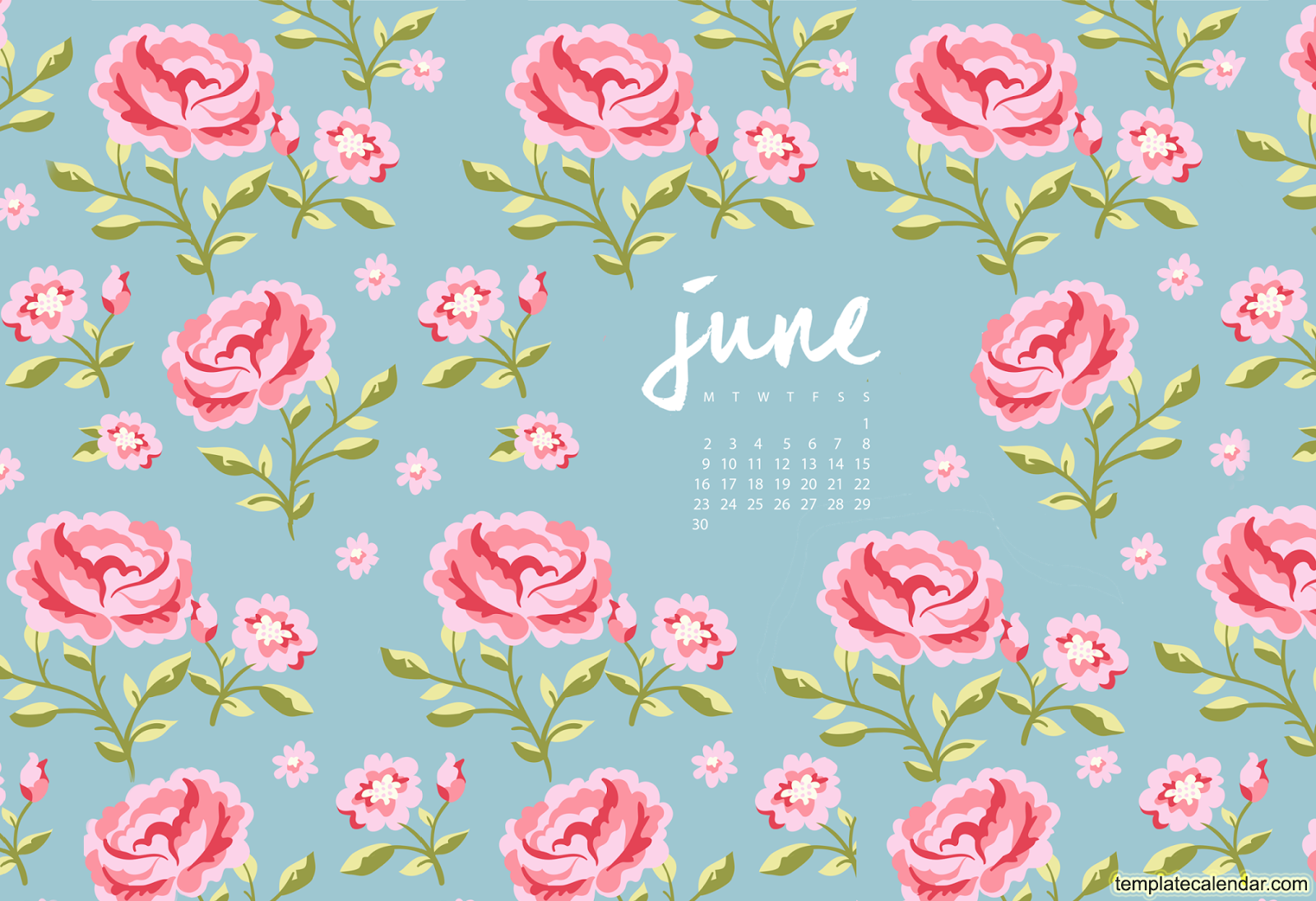 June 2016 Wallpaper With Calendar   Printable Monthly Calendar 1600x1095