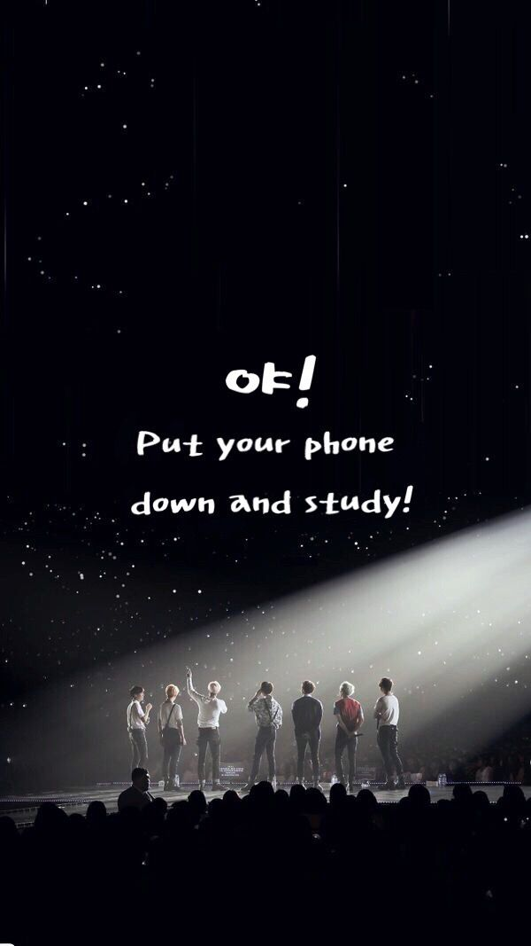 BTS live concert wallpaper for iPhone to study with Korean hangul 600x1067