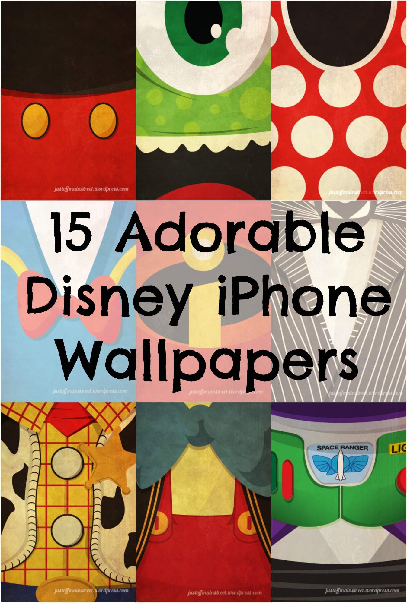 15 Iconic Disney Characters as iPhone Wallpapers Babble 1348x2000