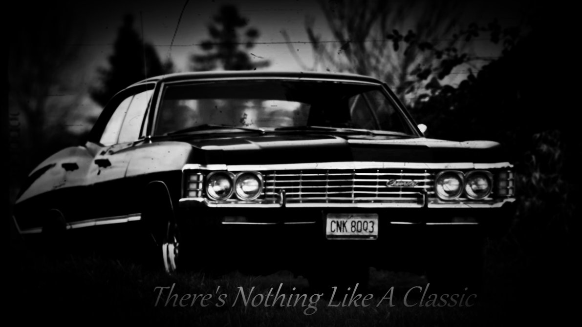 Supernatural Impala Wallpaper Side 1191x670