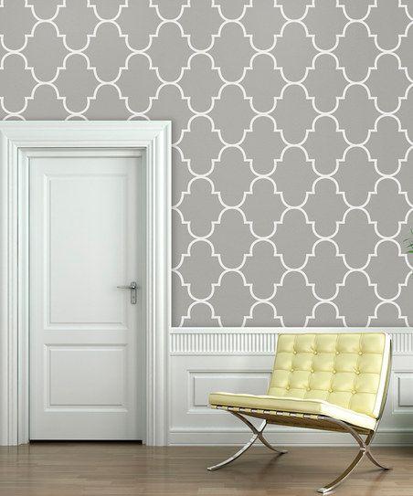 46 Gray Lattice Wallpaper On Wallpapersafari