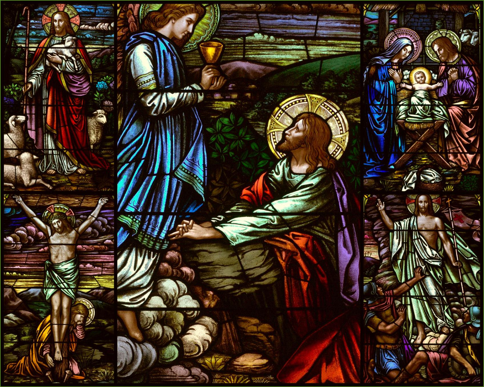 stained glass jesus catholic christian art wallpaper background 1696x1358