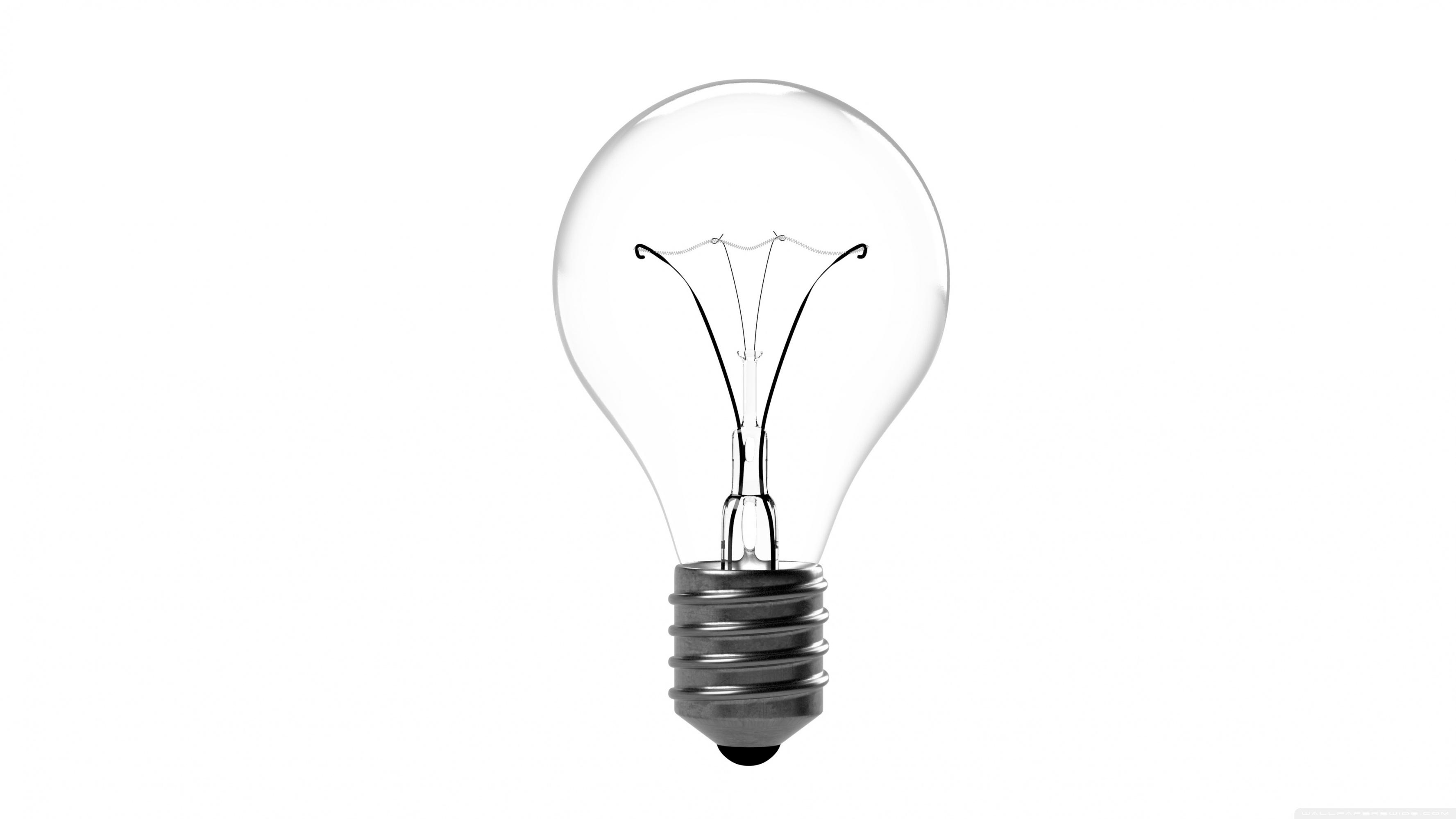 Incandescent Light Bulb 4K HD Desktop Wallpaper for 4K Ultra HD 3554x1999