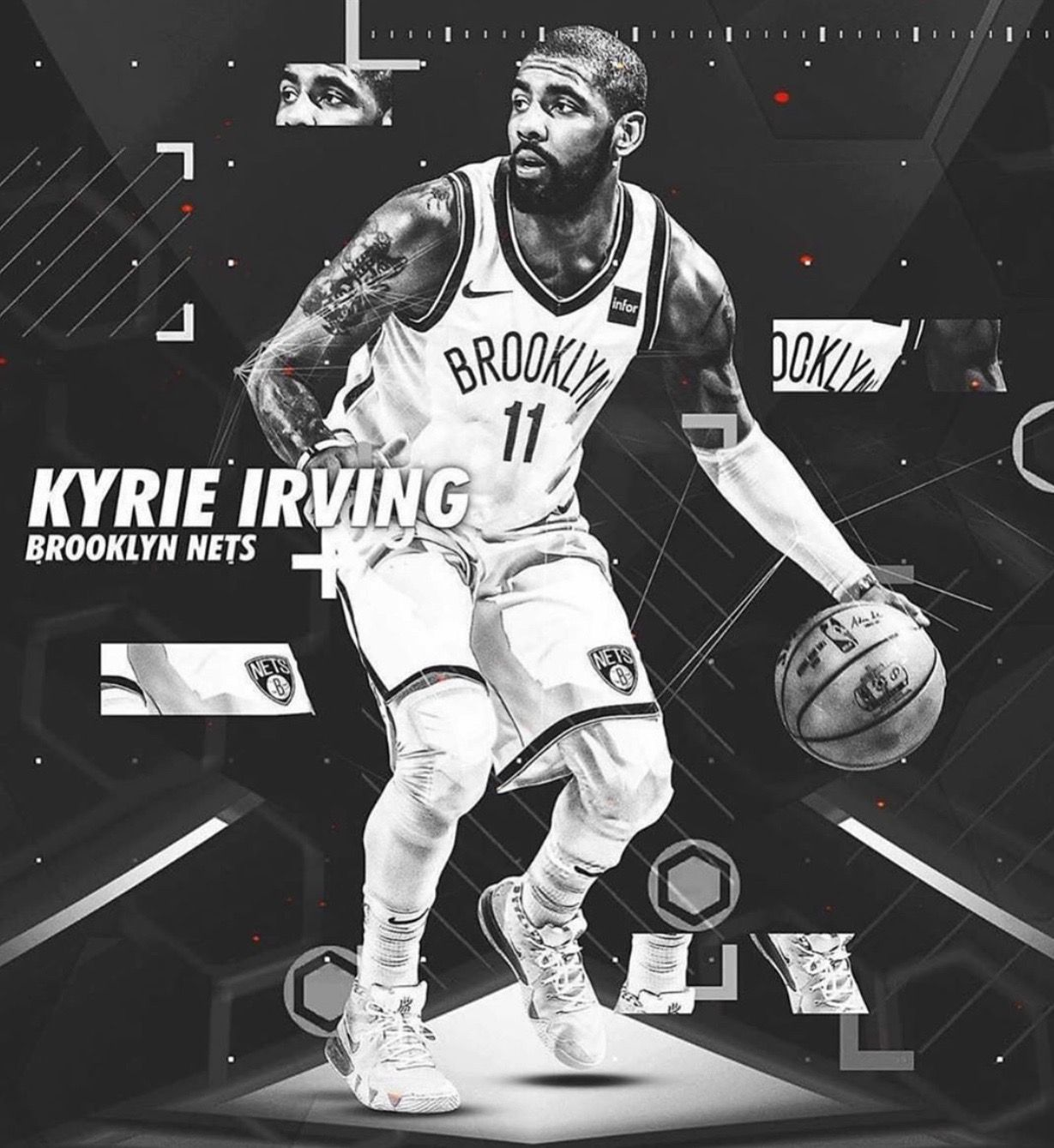 Nike Wallpaper Kyrie Irving Nets Wallpaper 1229x1339