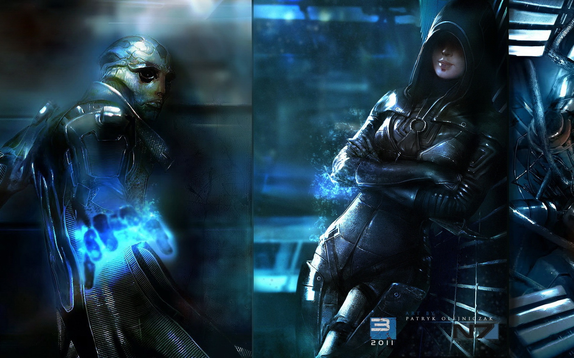 Video Game   Mass Effect 3 Mass Effect Alien Woman Thane Krios Kasumi 1920x1200