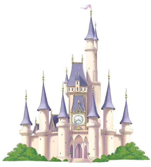 Disney princess castle wallpaper wallpapersafari for Castle mural wallpaper