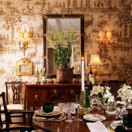 about adding some toile wallpaper to either my dining room or bedroom 500x500