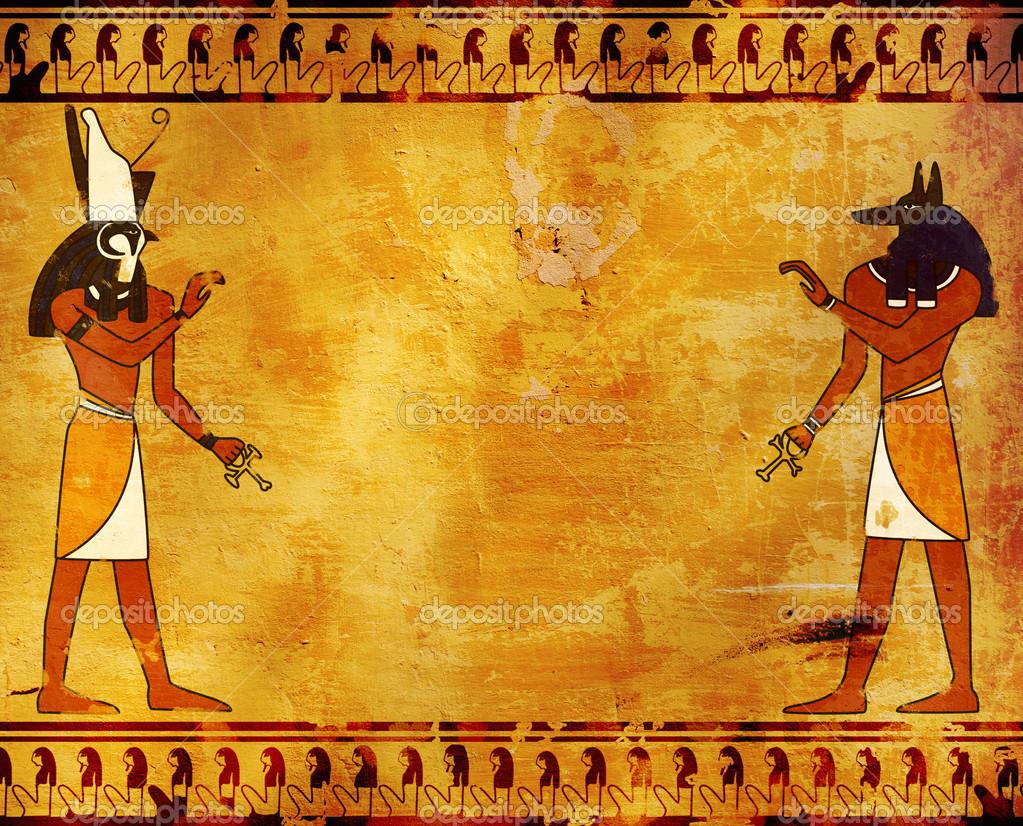 Egyptian gods wallpaper backgrounds wallpapersafari for Mural egipcio