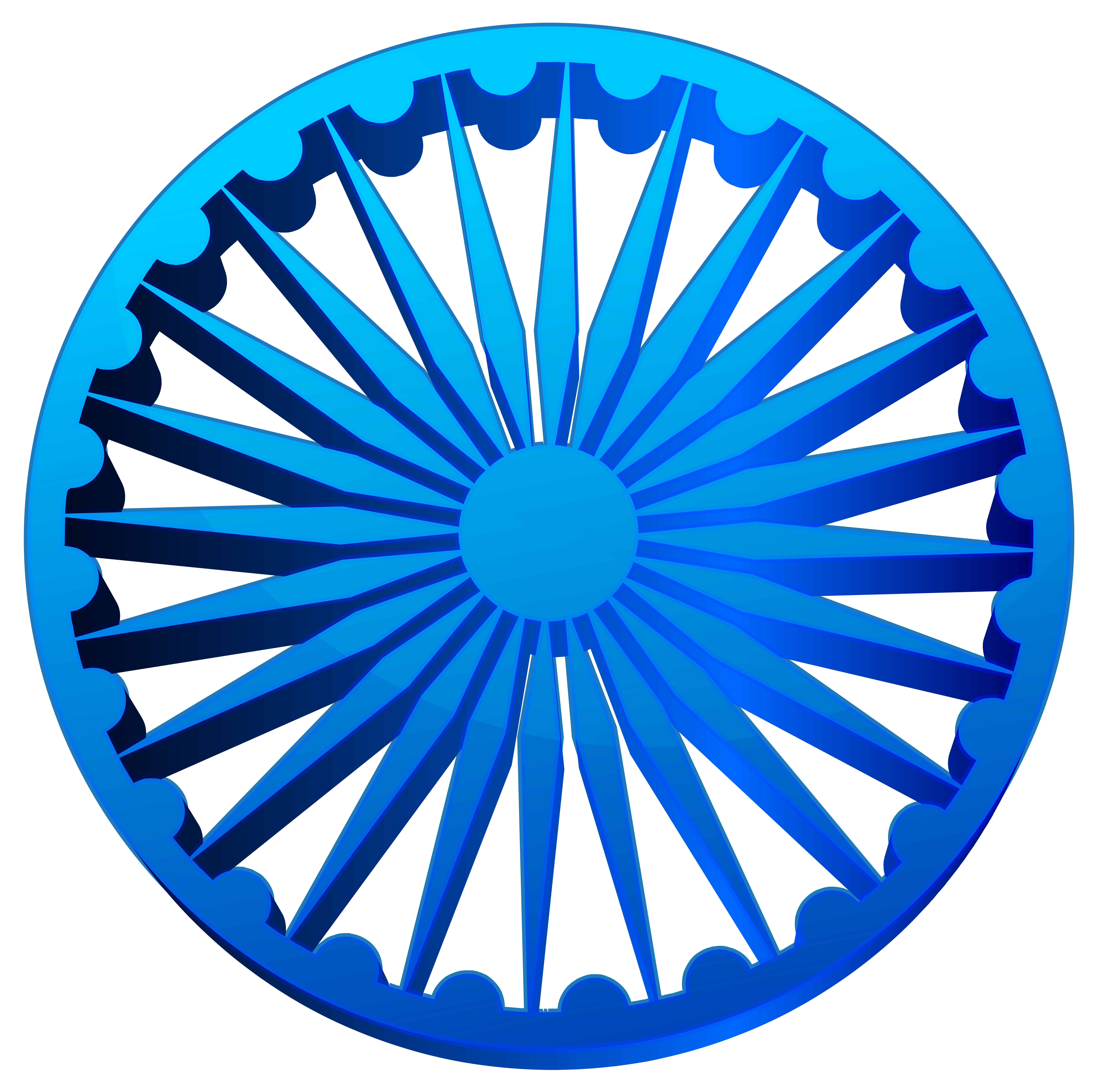 Ashoka Chakra India Transparent PNG Clip Art Image Gallery 8000x7984