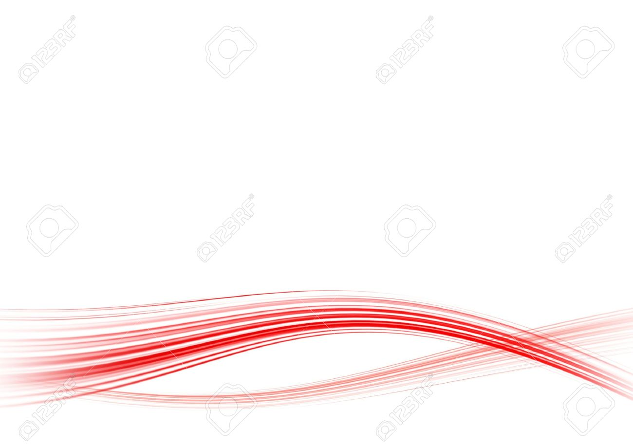 Abstract White Background With The Bent Red Lines Stock Photo 1300x918