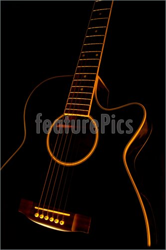 Pics of Black guitar in a black background 333x500