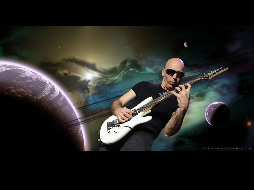 Guitar Joe Satriani With His Guitar Wallpaper 1024x768