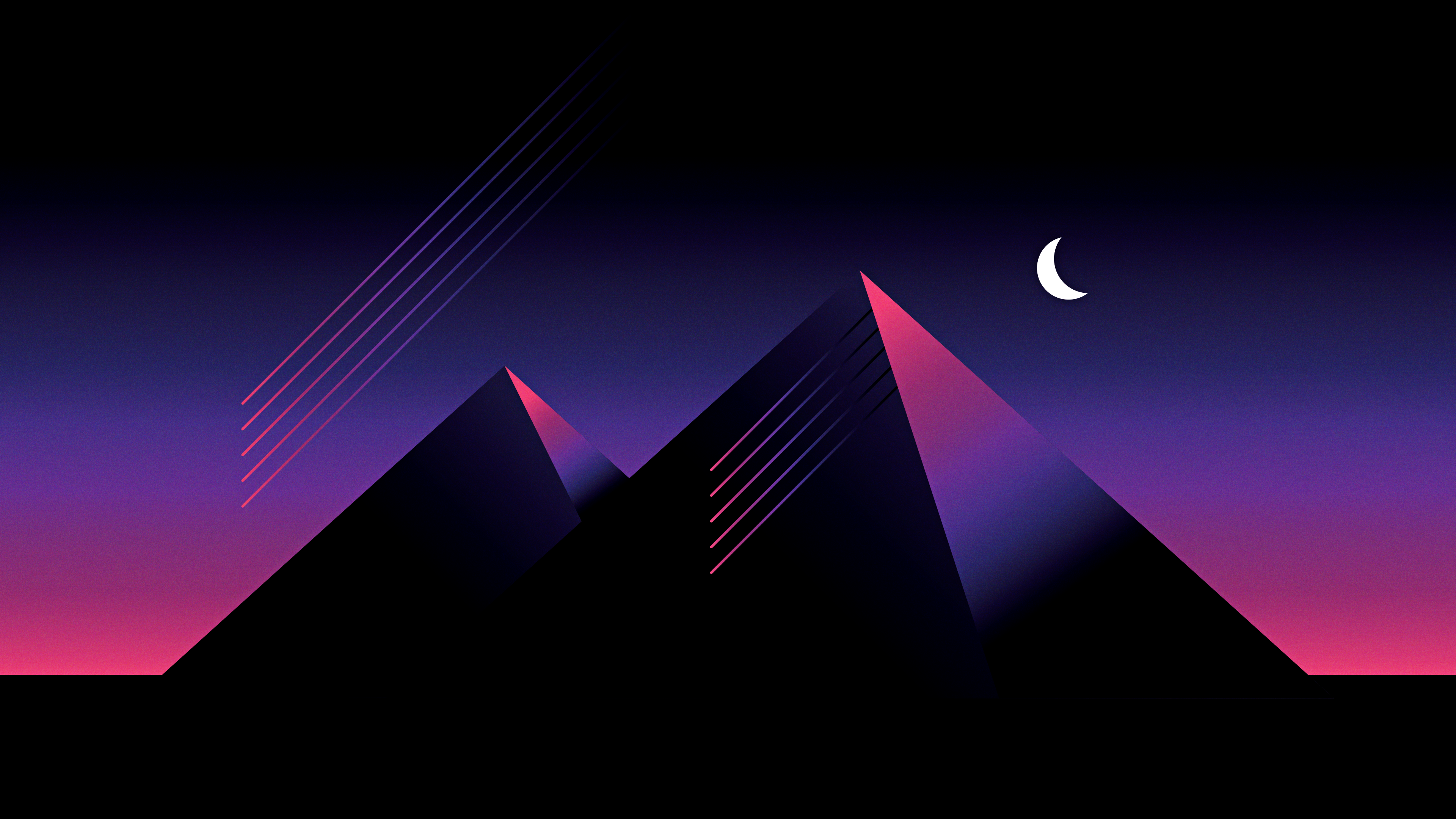 Retro Wave Pyramid [OC] [3840x2160] wallpaper 3840x2160