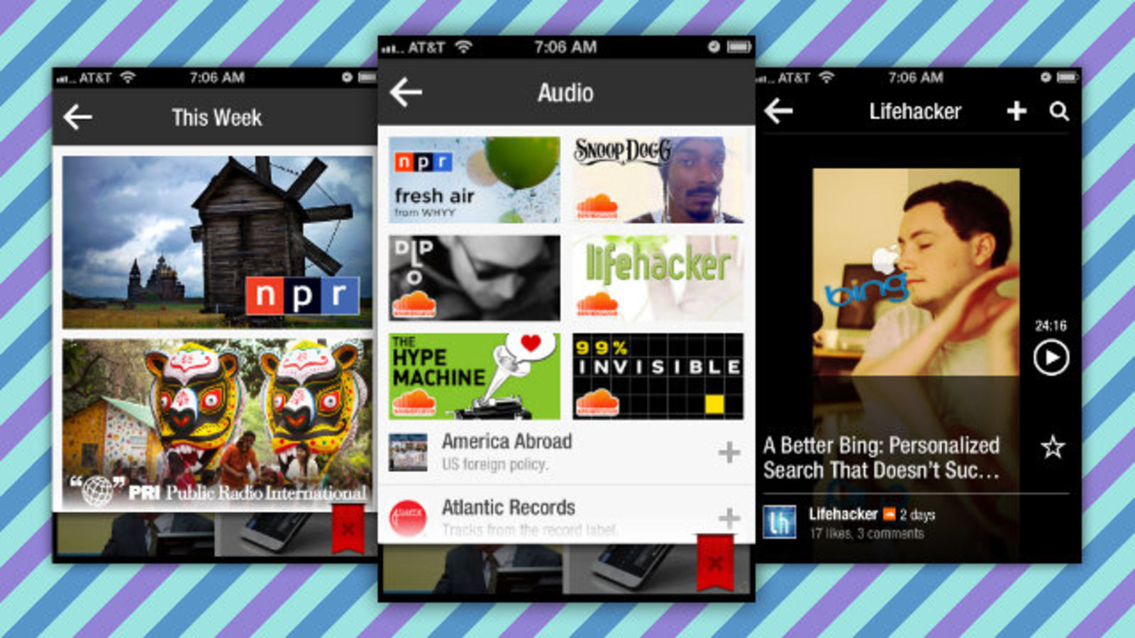Flipboard Updates with Background Audio Player Gallery and 1600x900