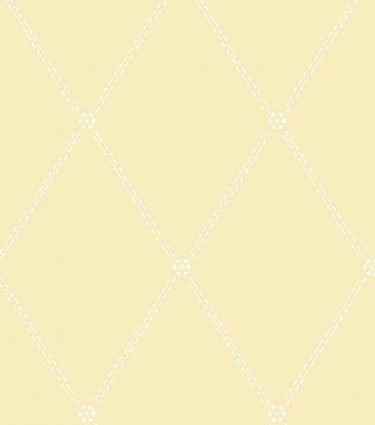 Trellis Wallpaper Soft yellow wallpaper with chain style trellis 534x605