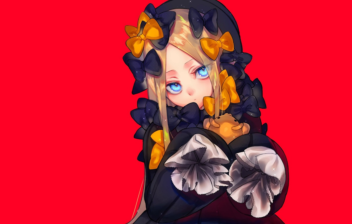 Wallpaper anime art girl red background Fate Grand Order The 1332x850