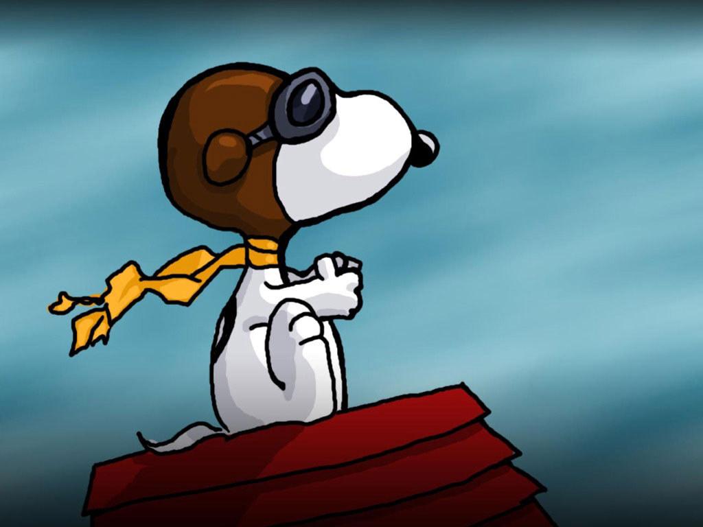 Wallpaper Snoopy Aviador 1024x768