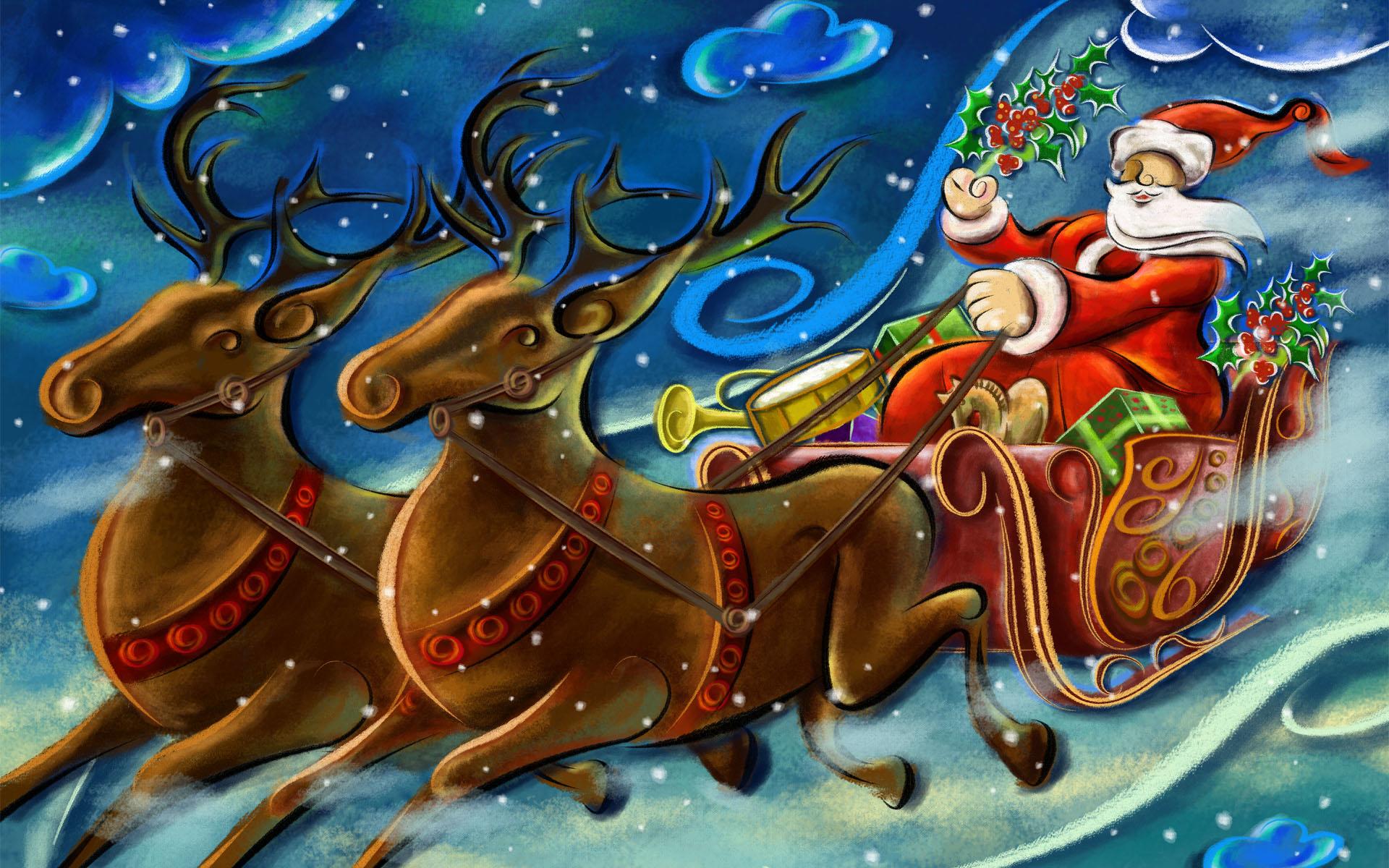 Santa Clause Creative Art Work Wallpapers HD Wallpapers 1920x1200