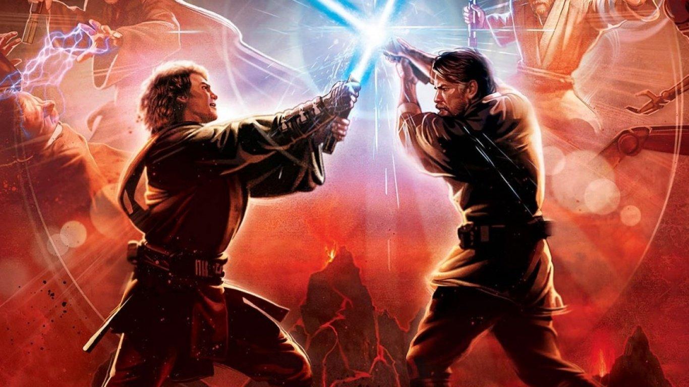 Revenge of the Sith Revenge of the Sith Ep III   Anakin vs Obi Wan 1366x768