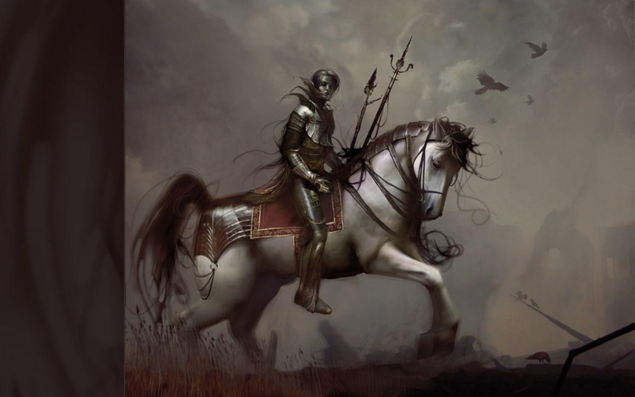 Fantasy Horse Wallpaper - WallpaperSafari  Knight