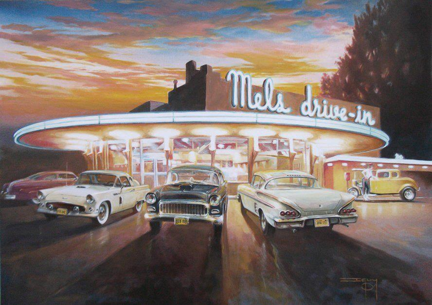 Mel S Diner Wallpaper Wallpapersafari