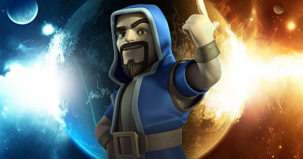 Wizard Fire and Lightning Wallpaper Clash of clans HD 600x315