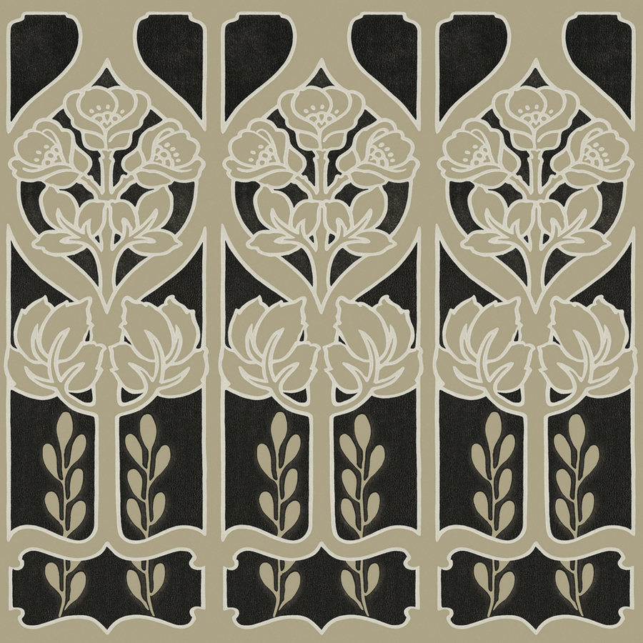 Black And Nickel Trellis Prepasted Wallpaper Border at Lowescom 900x900