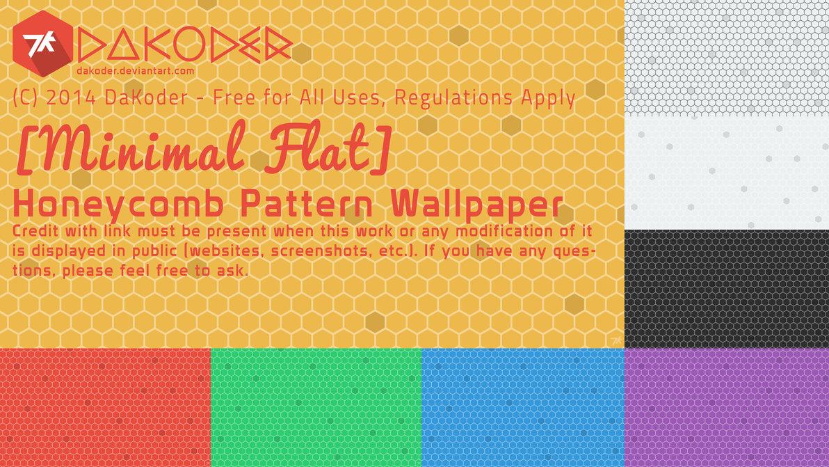 MinFlat] Honeycomb Pattern Wallpapers 4K by DaKoder 1192x671