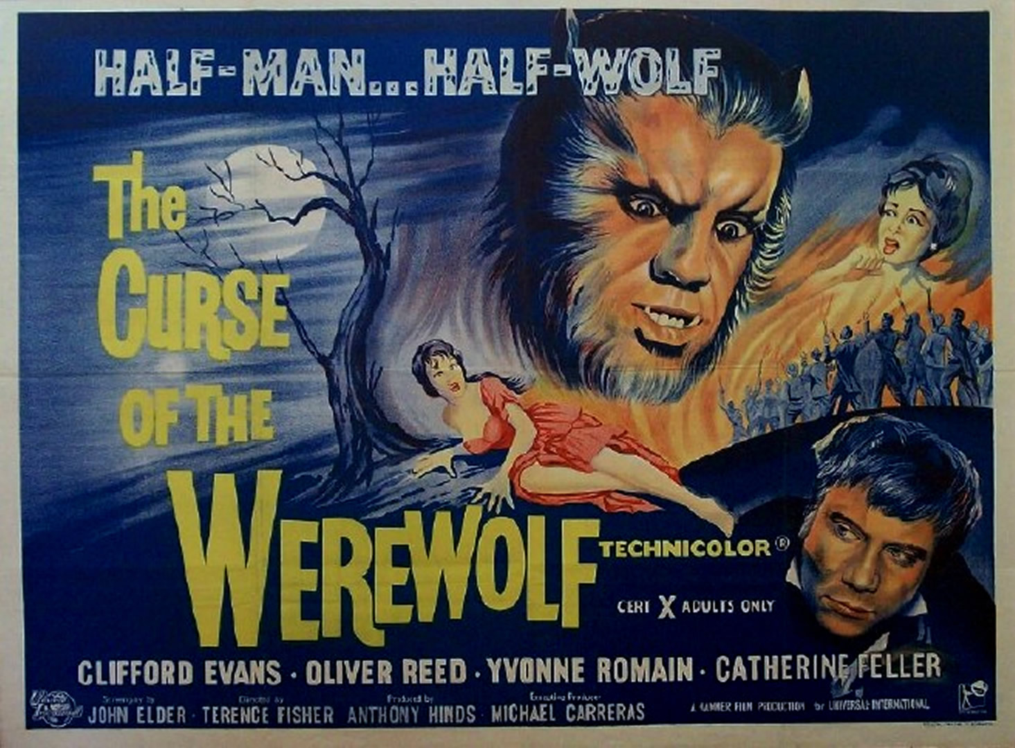 CURSE OF THE WEREWOLF   Hammer Horror B Movie Posters Wallpaper Image 1465x1080