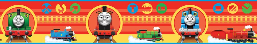 Details about THOMAS FRIENDS WALLPAPER BORDER 4 NO 1 ENGINE NEW 900x156