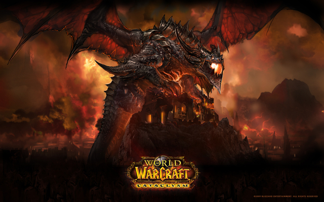 of warcraft cataclysm deathwing blizzard entertainment wallpaperjpg 640x400