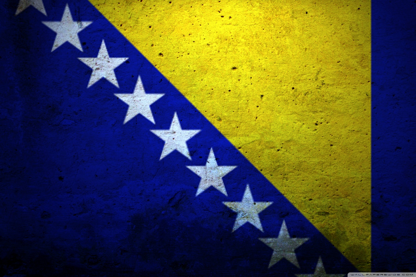 Grunge Flag Of Bosnia And Herzegovina 4K HD Desktop Wallpaper for 1440x960