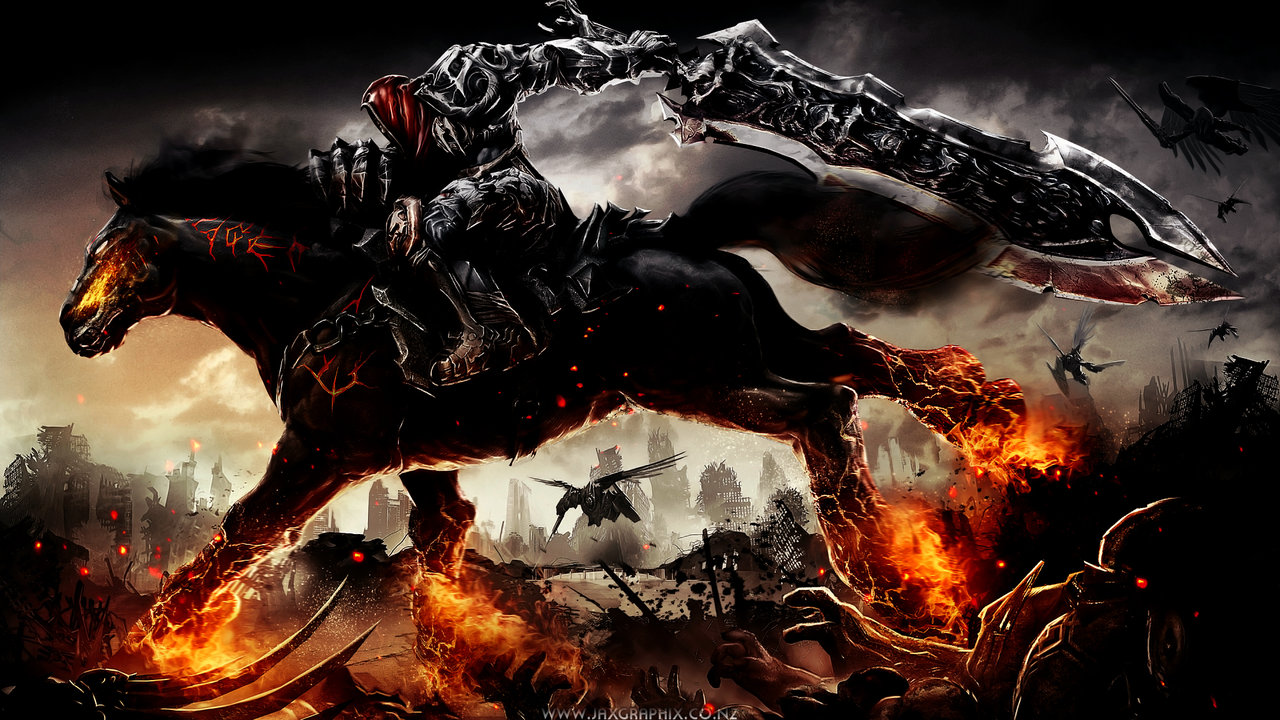 darksiders wallpaper by jaxgraphix fan art wallpaper games enhanced 1280x720
