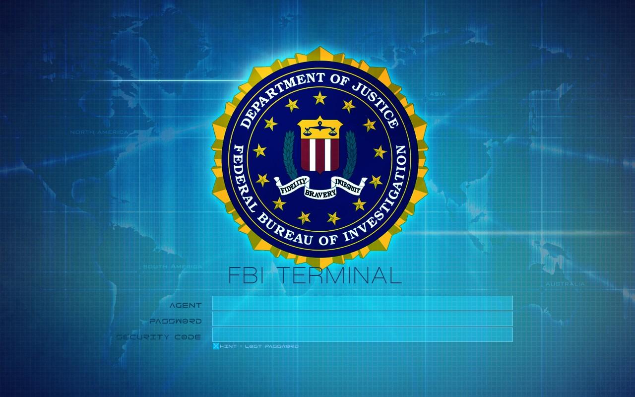 FBI Logo with Terminal warning Wallpapers 1280x800