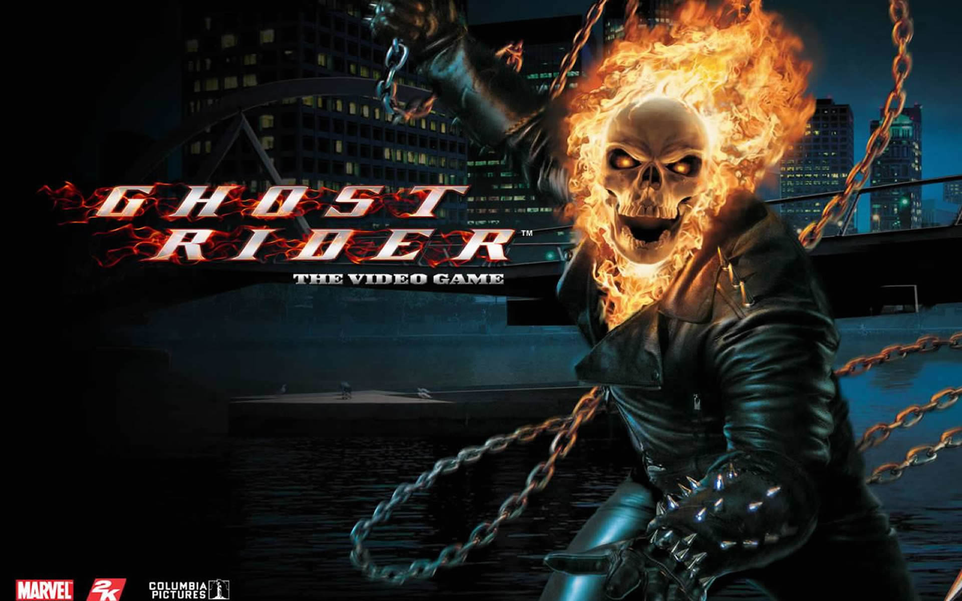 Flaming Skull   Superhero Games Wallpaper Image featuring Ghost Rider 1920x1200
