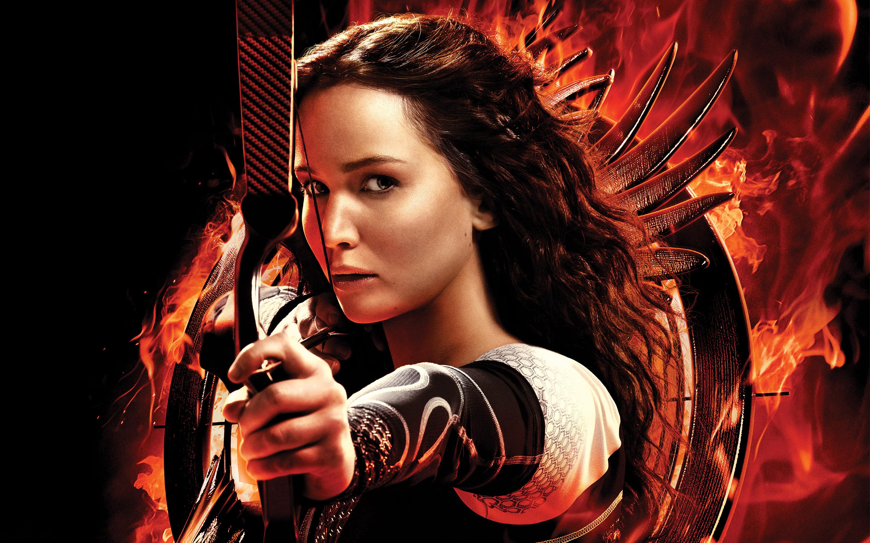 Katniss Jennifer Lawrence HD wallpaper 2880x1800