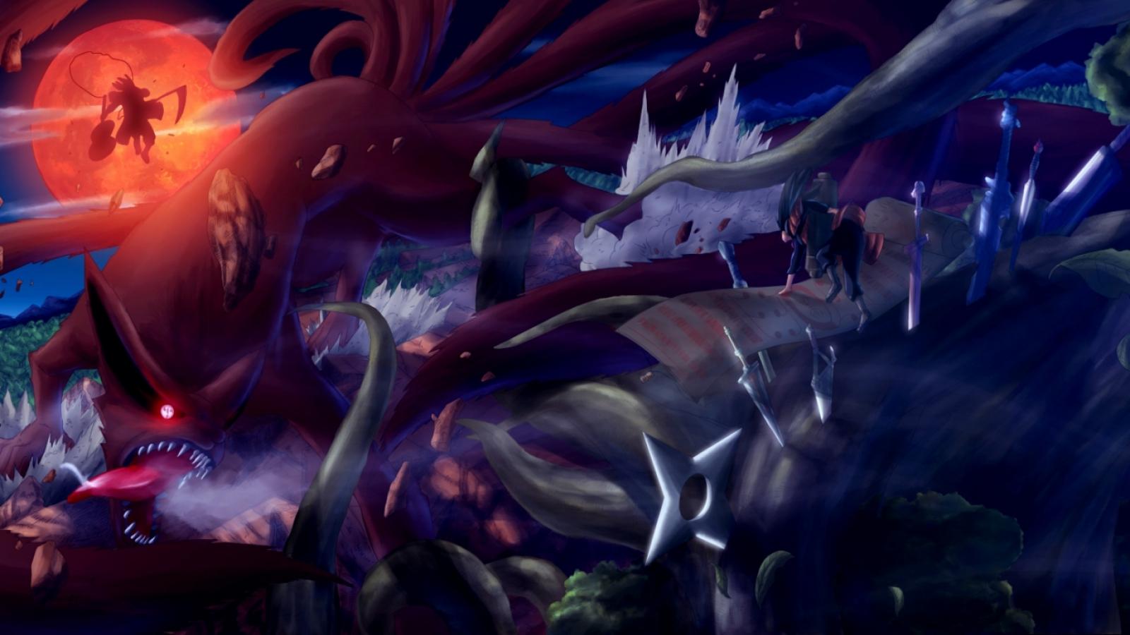 Madara Kyuub Hashirama Naruto Anime HD Wallpaper Desktop Background 1600x900